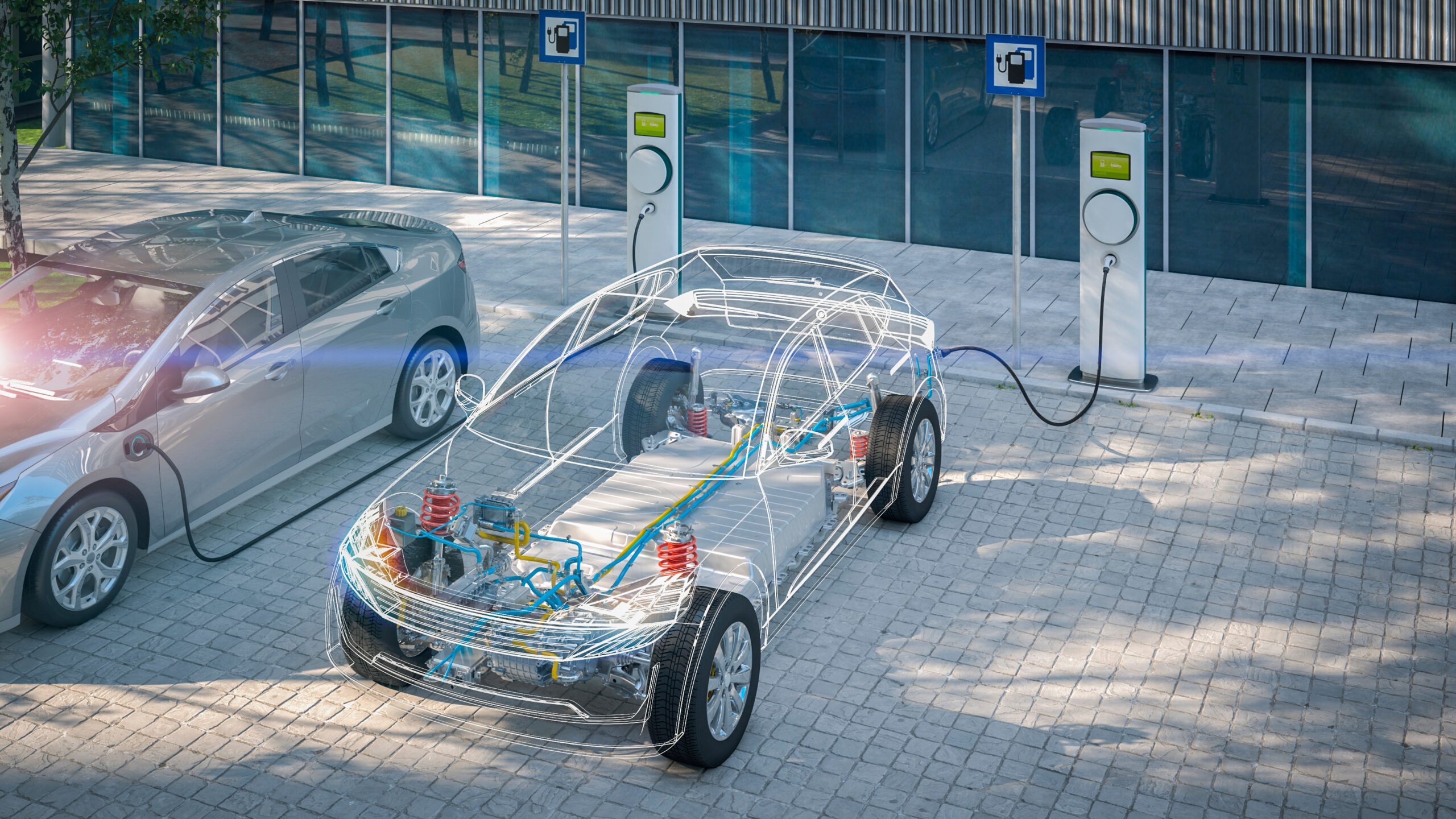 electric car with