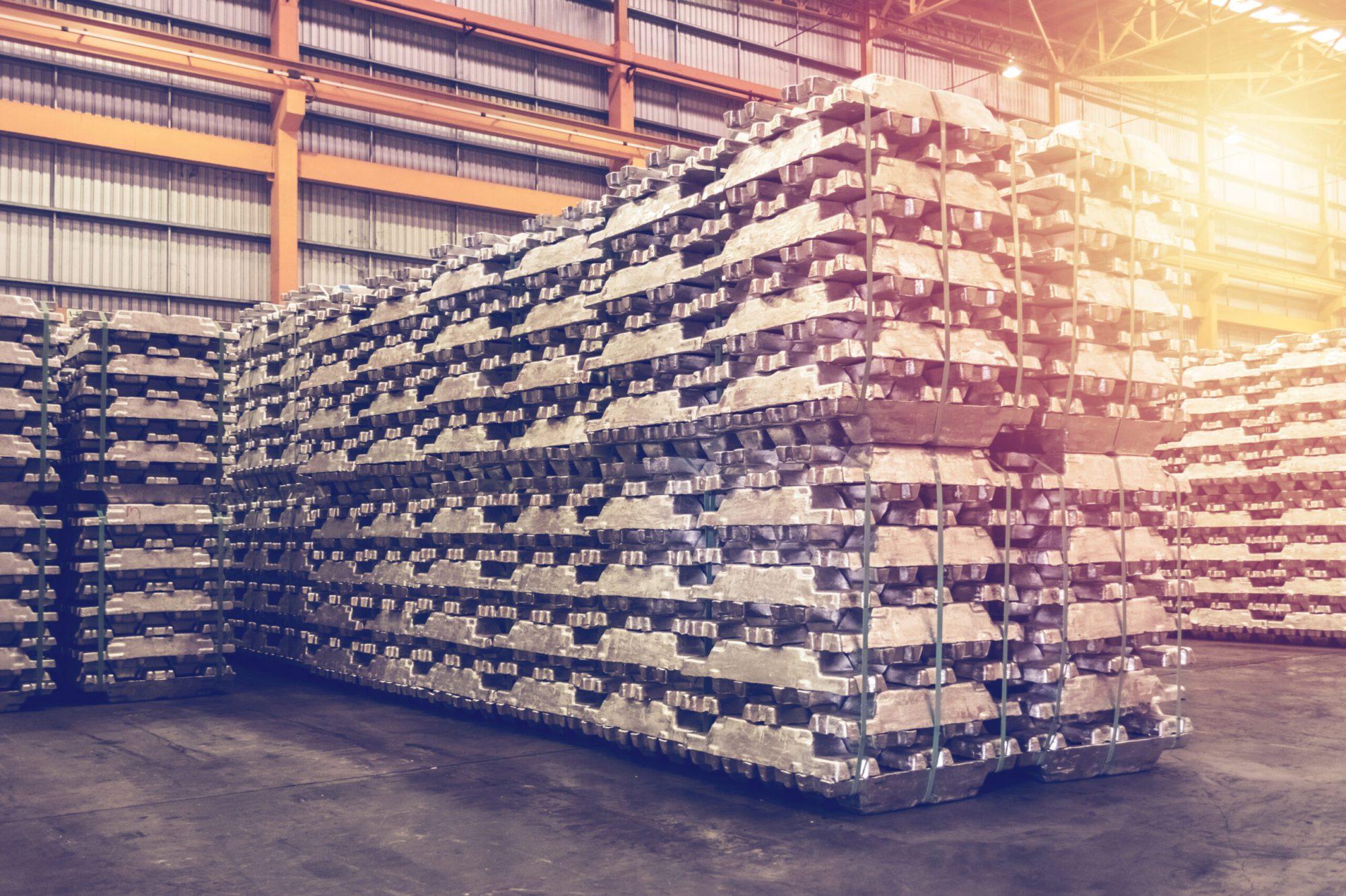 aluminum ingot storage
