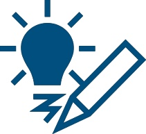 Light bulb and pencil icon